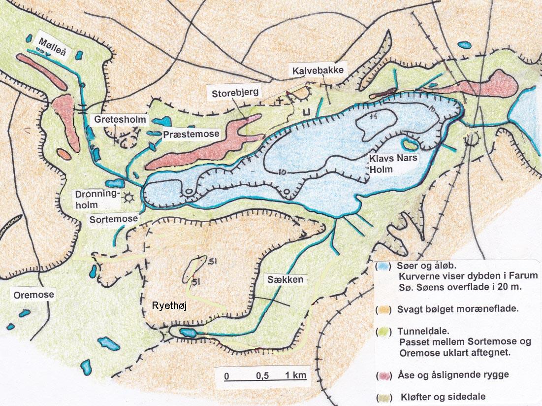 Geologisk kort - klik for større udgave